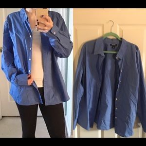 Blue collared shirt from Old Navy